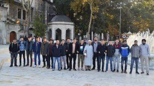 Ömer Öztürk Erkek Öğrenci Yurdu Sabah Namazında Eyüp Sultan'daydı